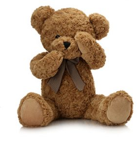 shy bear stuffed animal